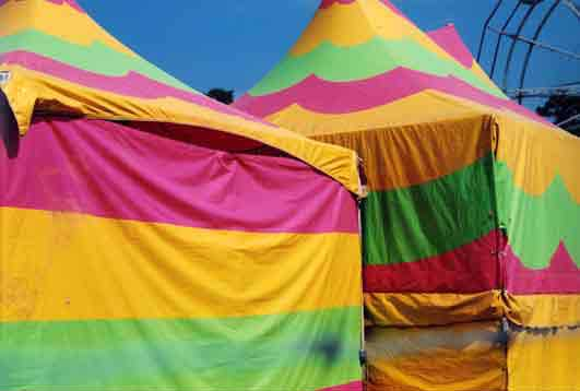 two fair tents